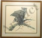 Litho Sallie Ellington Middleton Great Horned Owl