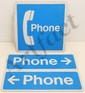 Lot of 3 Vintage Tin Telephone Double-Sided Signs
