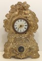 Antique Waterbury Metal Mantel Clock