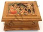 Wood Carved Musician Reuge Swiss Anri Music Box