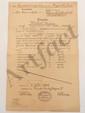 German 'Trade School' Report Card Dated 1909