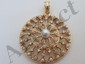 14 Kt Gold Pearl and Diamond Pendant
