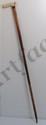 Vintage Walking Stick with Figural Ivory Handle