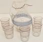 Victorian Drink Set w/ Pitcher & 5 Tumblers