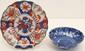 Imari Plate and Blue & White Scalloped Bowl