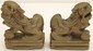 Pair Red Clay 'Gold' Foo Dogs