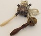 Lot of 2 Victorian Baby Rattles