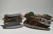 American Primitive Painted Wood Duck Hunter's Set
