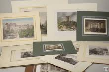 Lot of 11 Various Antique Engravings In Folio