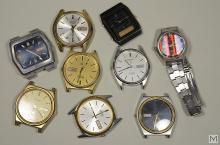Vintage Collection of 9 Men's Seiko Wristwatches