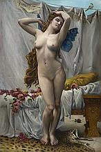 The Awakening of Psyche after Guillaume Seignac, oil painting by Joanne Licardo