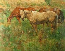Horse Trio, Oil Painting by Sam Collett