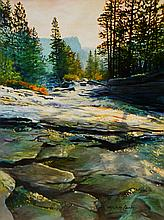 Horsetail Falls Evening, oil painting by Michelle Courier