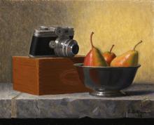 Camera, Pears, and Box