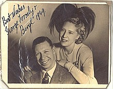 George Formby & Beryl signed photograph