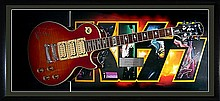 Kiss a limited Signed special edition Epiphone Les Paul Ace Frehley Guitar