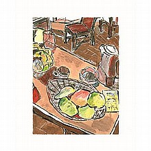 Bob Dylan 'Still Life With Peaches'. From Bob Dylan's Drawn Blank