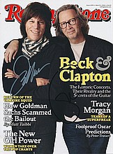 Jeff Beck & Eric Clapton autographed 'Rolling Stone'