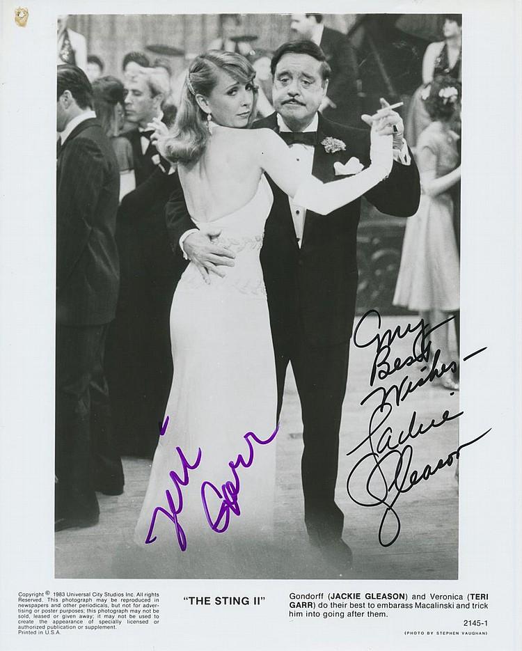The Sting' Jackie Gleason & Terri Garr Autographed publicity photograph