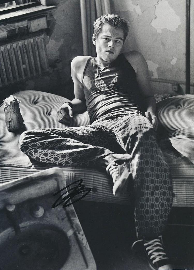 Leonardo Di Caprio Autographed publicity photograph