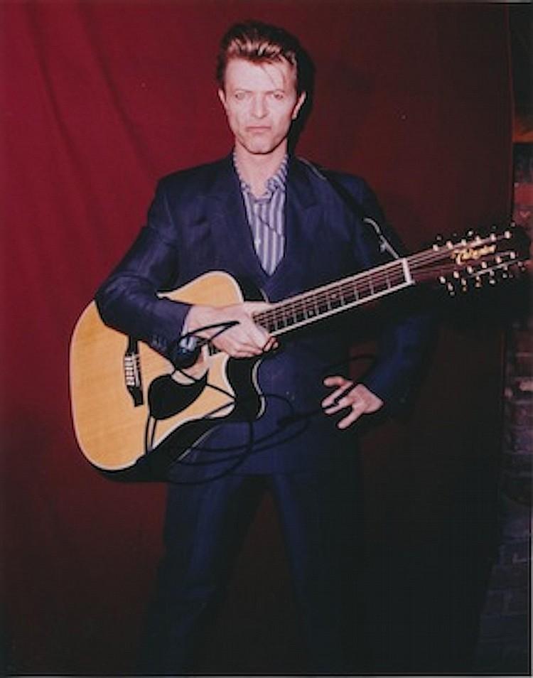 David Bowie Autographed publicity photograph