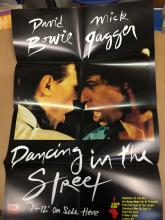 DAVID BOWIE MICK JAGGER DANCING IN THE STREET MINT POSTER