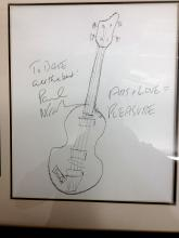 The Beatles Paul McCartney Very Rare Original Drawing by Paul