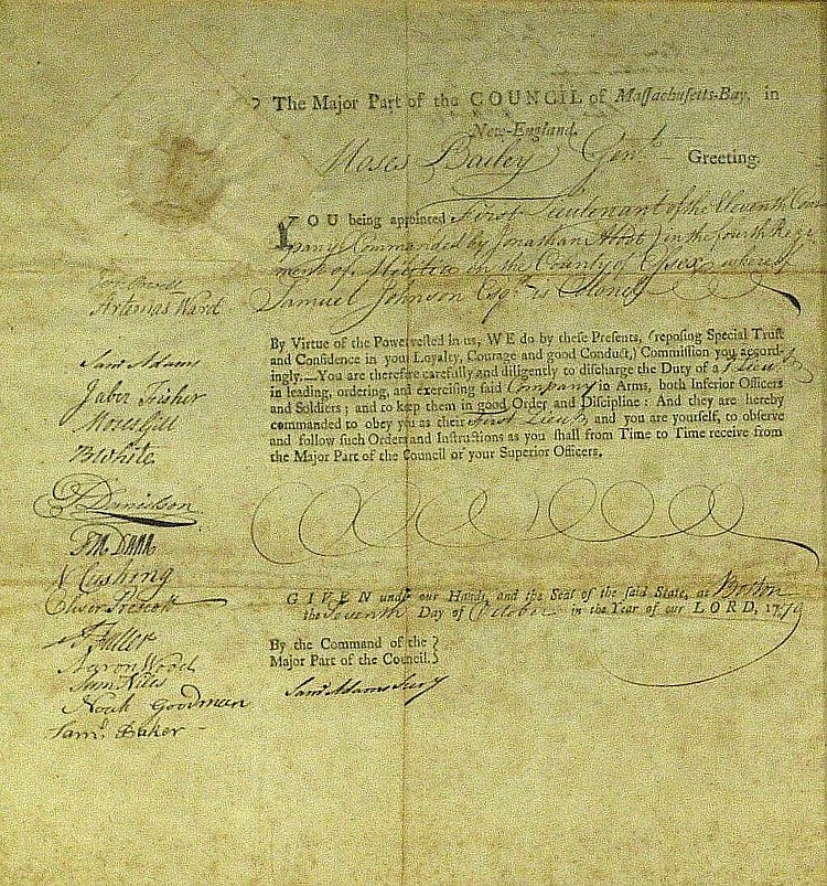 Samuel Adams - Document Signed Twice