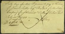 Founding Father AARON BURR - Financial Doc Signed