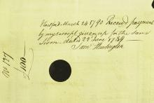 CT Signer SAMUEL HUNTINGTON - Pay Order Signed