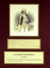 French General DeRochambeau - Matted Signature