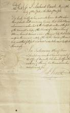 Rev war Officer, NYC Mayor RICHARD VARICK - Doc Signed