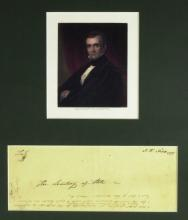 JAMES K POLK - Envelope Addressed and Franked