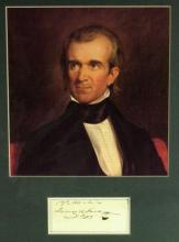 JAMES K POLK - Matted Signature