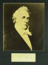 JAMES BUCHANAN - Cut Signature Matted
