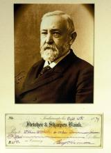 BENJAMIN HARRISON - Check Signed & Matted