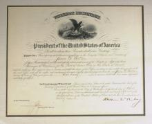 WILLIAM McKINLEY - Customs Appointment Signed