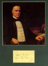 WILLIAM McKINLEY - Card Signed and Matted