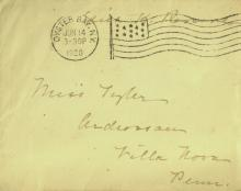 EDITH K ROOSEVELT - Envelope Addressed & Free Frank