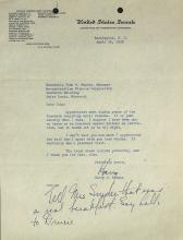 HARRY TRUMAN - Typed Ltr Signed Autograph PS