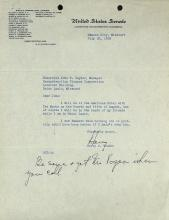 HARRY S TRUMAN - Typed Ltr Signed with Autograph PS
