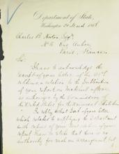 Lincoln Secy State WILLIAM SEWARD - Letter Signed