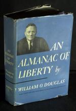 Jurist WILLIAM O DOUGLAS - His Book Signed