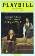 Playwright EDWARD ALBEE - Virginia Woolf Playbill Signed