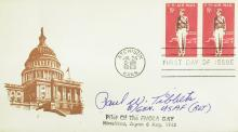 Enola Gay Pilot PAUL TIBBETS - Postal Cvr Signed