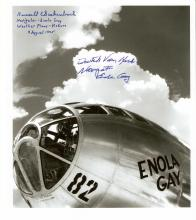 ENOLA GAY - Photo Signed VAN KIRK & GACKENBACH