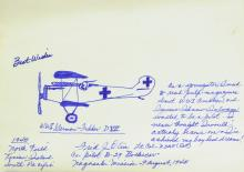 Bockscar Co-Pilot FRED OLIVI - Original Sketch Signed