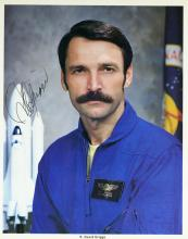 Astronaut S DAVID GRIGGS - NASA Litho Signed