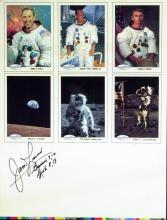 JAMES LOVELL - Uncut SpaceShots Trading Cards Signed