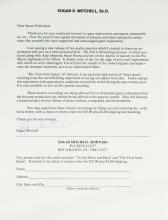 EDGAR MITCHELL - Promotional Letter Signed